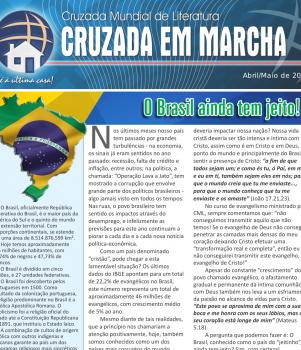 Jornal Cruzada em Marcha – Abril/Maio de 2016